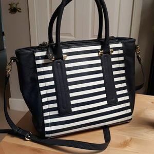 SALE! Merona Target striped crossbody tote purse